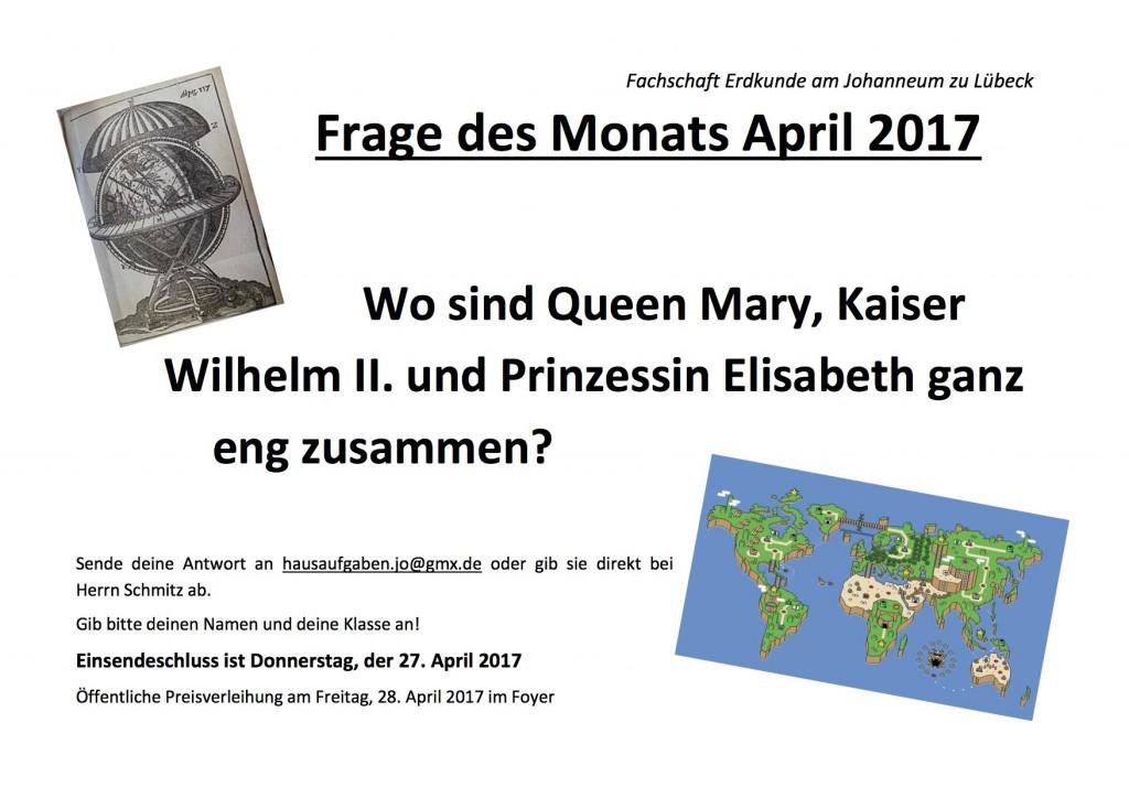 Frage des Monats April 17