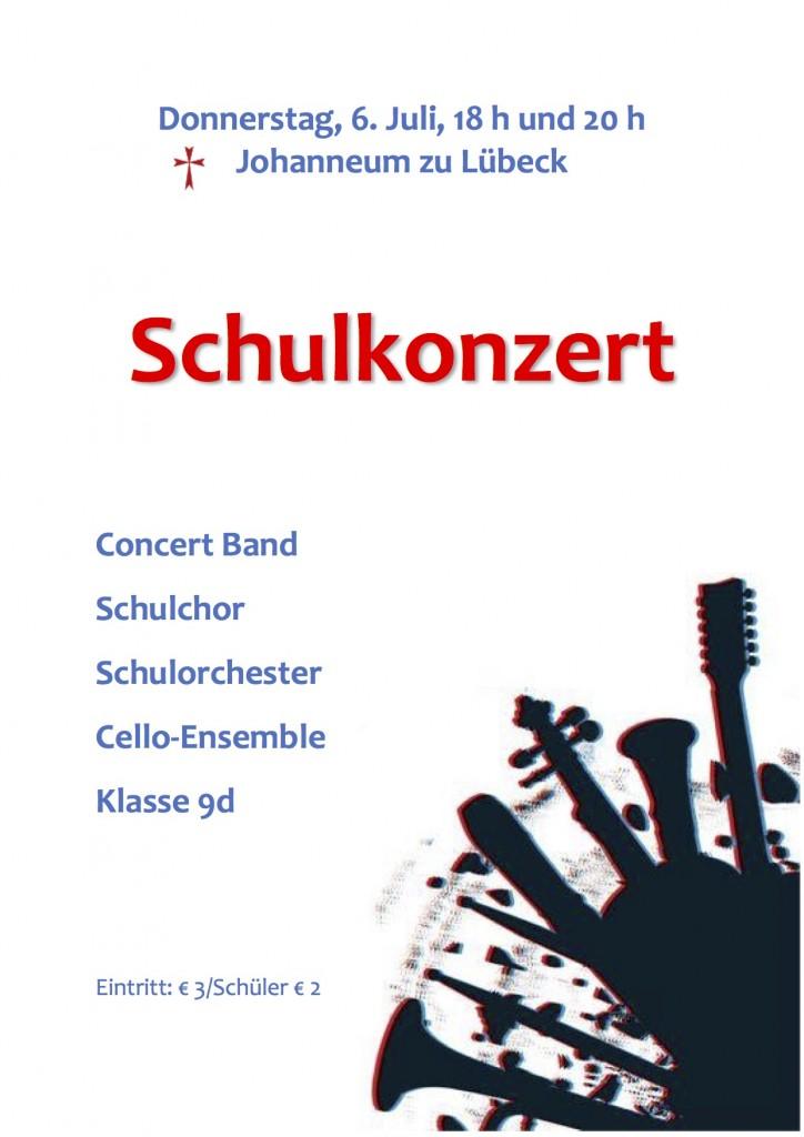 Plakat Schulkonzerte